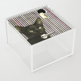 Hekate greek goddess cat keeper of the key handcut collage Acrylic Box