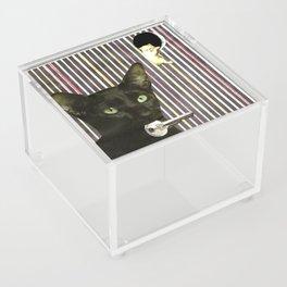 Hekate greek goddess cat keeper of the key handcut collage Acrylic Box