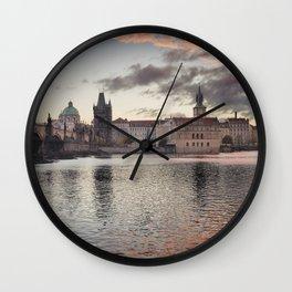 Prague Towers Wall Clock