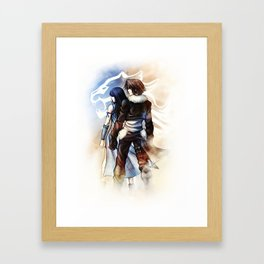 Squall and Rinoa - Griever Framed Art Print