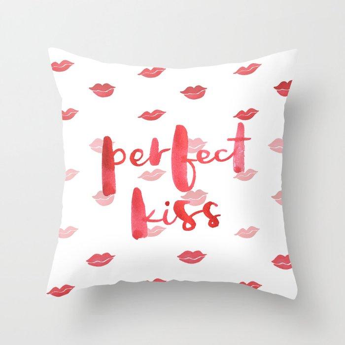 Perfect Kiss Throw Pillow