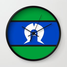 Torres Strait Islander people ethnic flag Wall Clock