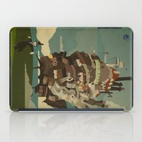 castle iPad Cases featuring Moving Castle by Danny Haas
