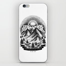 FIND A BEAUTIFUL PLACE TO GET LOST (White) iPhone Skin
