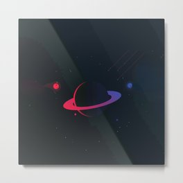 Blue and red planet Metal Print