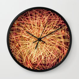 Art of the Fireworks Wall Clock