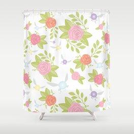 Garden of Fairies Pattern Shower Curtain
