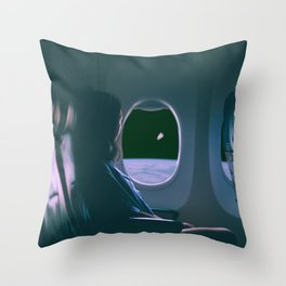 Travel in space Throw Pillow