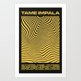 Tame Impala Currents Design Art Print