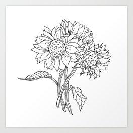 Big Sunflowers Art Print