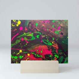 Original Splatter Pour - Neon Screams Mini Art Print