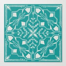 Turquoise Batik Canvas Print