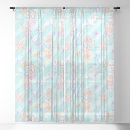 Nautical Cutie Sheer Curtain