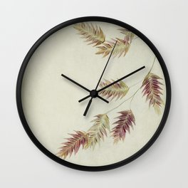 oat grass leaves Wall Clock