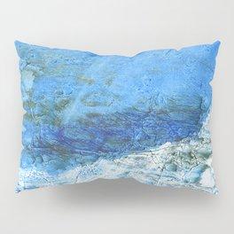 Corn flower blue colorful watercolor pattern Pillow Sham