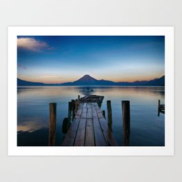 The Dock Sunset (Color) Art Print