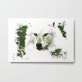 Mystical Wolf Metal Print