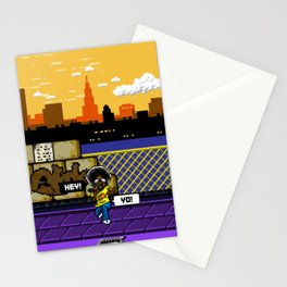 8BIT OLD SCHOOL HIPHOP(AFRO) Stationery Cards