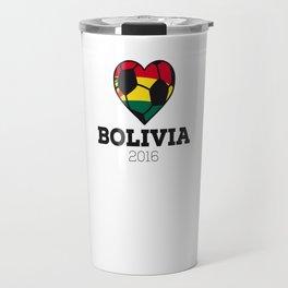 Bolivia Soccer Shirt 2016 Travel Mug