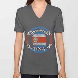 Costa Rica Its In My DNA Unisex V-Neck