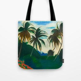 Tropical Scene with Palms and Flowers by Joseph Stella Tote Bag