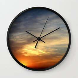Sunrise 041017 Weatherford, Texas Wall Clock
