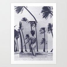 Tropical Storm in Purple Art Print