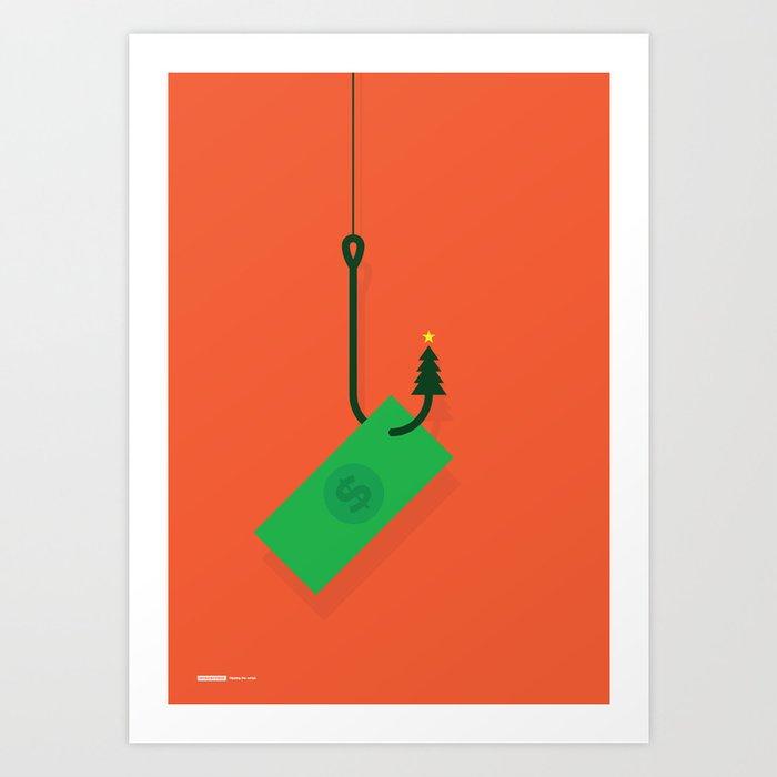 Hooked on Christmas Art Print
