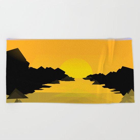 Sunset on the sea Beach Towel