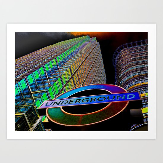 Apocalypse Canary Wharf London Art Print