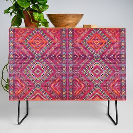 N118 - Pink Colored Oriental Traditional Bohemian Moroccan Artwork. Credenza