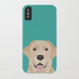Labrador Retriever golden retriever yellow lab dog breed gifts iPhone Case