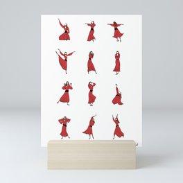 Kate Bush - Wuthering Heights - Illustrated Dance Routine Mini Art Print