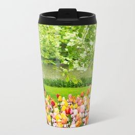 Tulip Garden in Amsterdam Metal Travel Mug