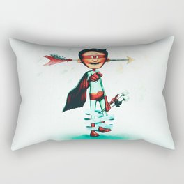 Super Hero In Love Rectangular Pillow