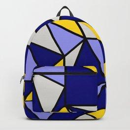 Geometric Scandinavian Design II - Navy, Blue, Yellow and White Backpack