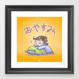 Oyasumi! (Good night!) Framed Art Print
