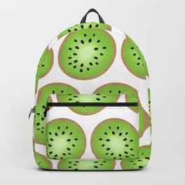 Kiwi Pattern  |  White Background Backpack