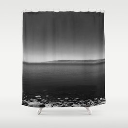 Sea B&W Shower Curtain