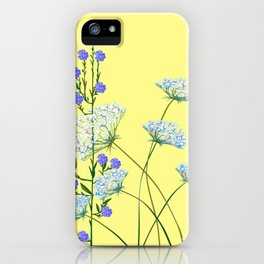 My Kentucky Wild Flowers, Queen Anne Lace and Flax iPhone Case