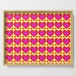 Hearts Serving Tray