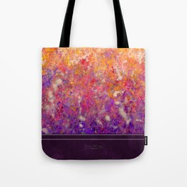 Abstract Art in Sunset Palette Purple Tote Bag
