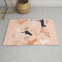 Cats in pink Rug