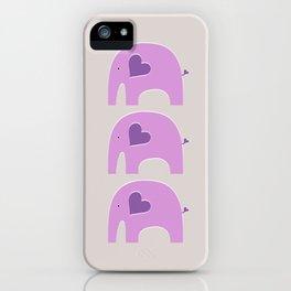 Lavender Elephant 2 iPhone Case