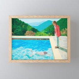stand and swim people Framed Mini Art Print