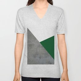 Concrete Festive Green White Unisex V-Neck