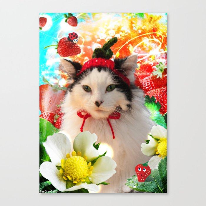 Strawberry Shortfluff Canvas Print