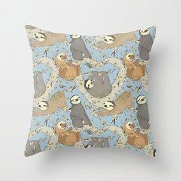 Sloths and Vanilla Throw Pillow