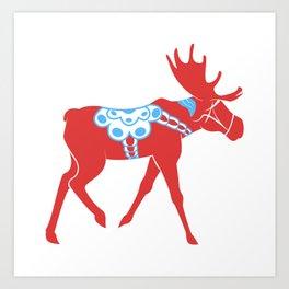 Dala Moose Art Print