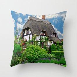 Quaint English Cottage Throw Pillow